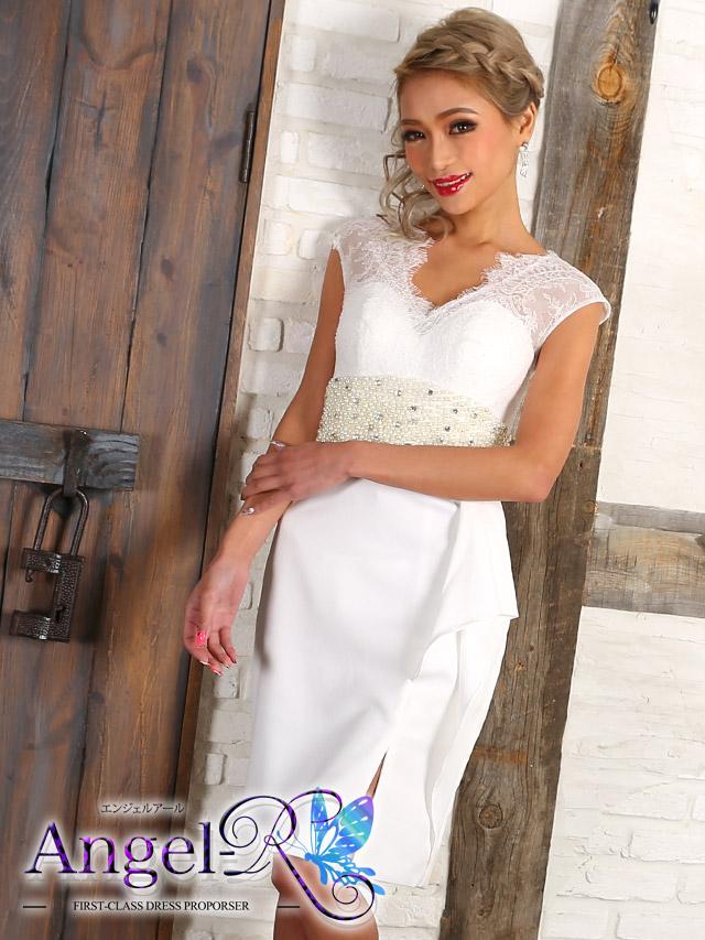 エンジェルアール Angel-R ドレス  ar7701 パールハイウエストレースタンクトップタイトミニドレス