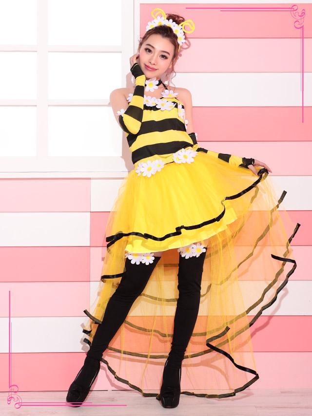 2017ハロウィン コスプレ衣装 ミツバチ 蜂 虫 コスチューム