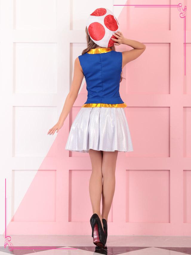 2017ハロウィン コスプレ衣装 スーパーマリオ キノピオ きのこ