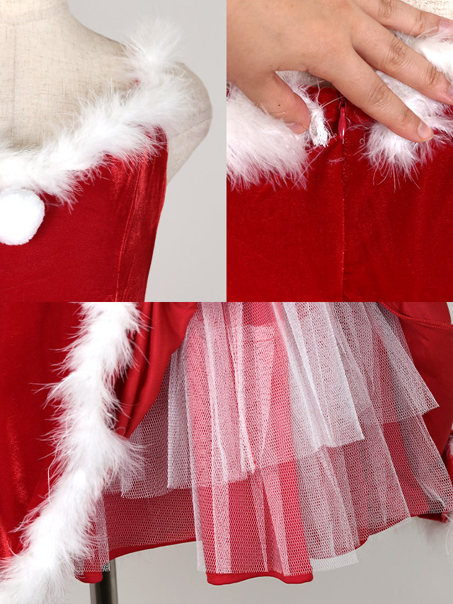 サンタコスチューム衣装の商品詳細 ディテール