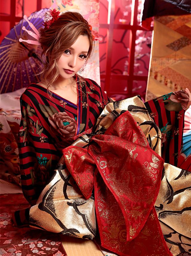 キャバ嬢綾野あすかが着る花魁コスチューム衣装