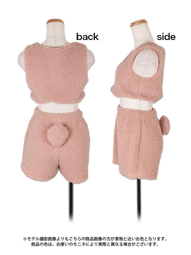 ピンクプードルコスチューム衣装の商品詳細