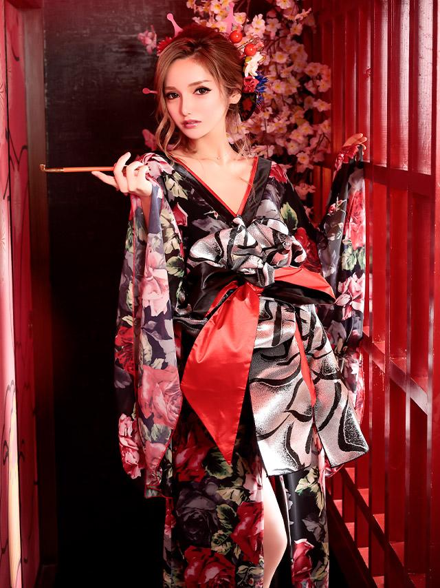 キャバ嬢綾野あすかが着る花魁ドレス
