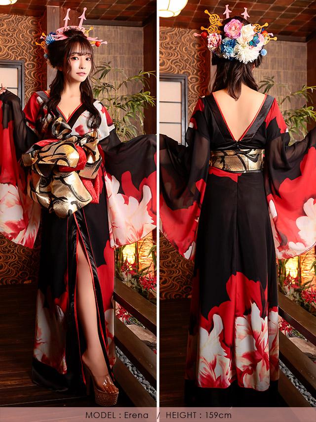 キャバ嬢えれなが着る花魁コスチューム衣装
