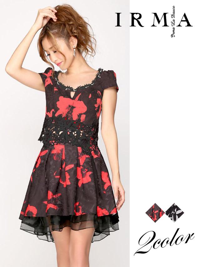 BEYOND IRMA ビヨンド イルマ ドレス 165685 フラワーレースフレアミニドレス (2color) (S/M)