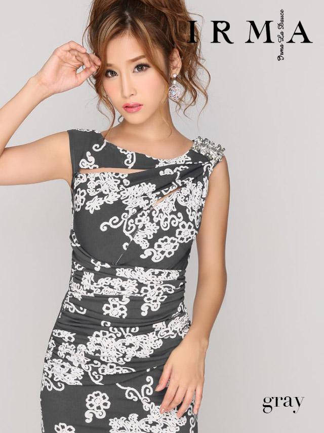 IRMA イルマ ドレス 165687 フラワーノースリーブタイトミニドレス (1color) (S/M)