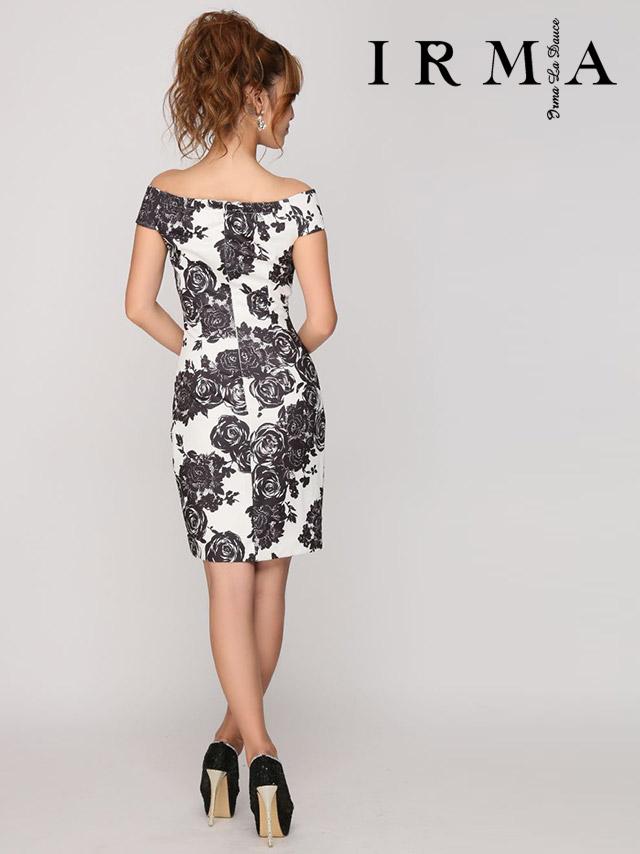 IRMA イルマ ドレス 165691 オフショルダーモノトーンフラワープリントドレス (2color)(S/M)