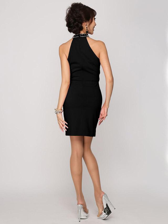 JEANMACLEAN ジャンマクレーン ドレス 165706 セクシーデコルテ2ピース風タイトミニドレス (2color) (S/M)