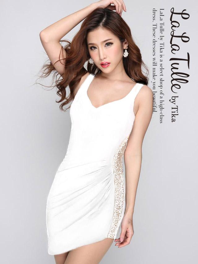 IRMA イルマ 75005 シースルーデザインタイトミニドレス