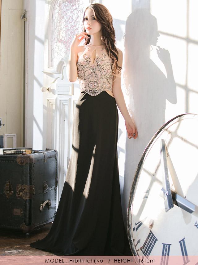 人気キャバ嬢一条響が着るLAインポートロングドレス