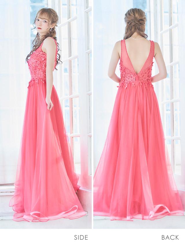 天使カレンが着るAラインロングドレス