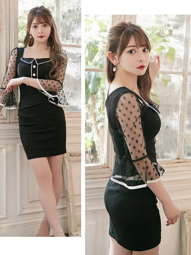 黒崎みさが着る新作韓国キャバドレス