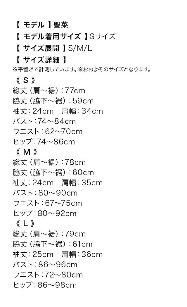 韓国ドレスのサイズ表