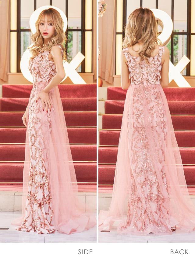 門りょうが着るLAロングドレス