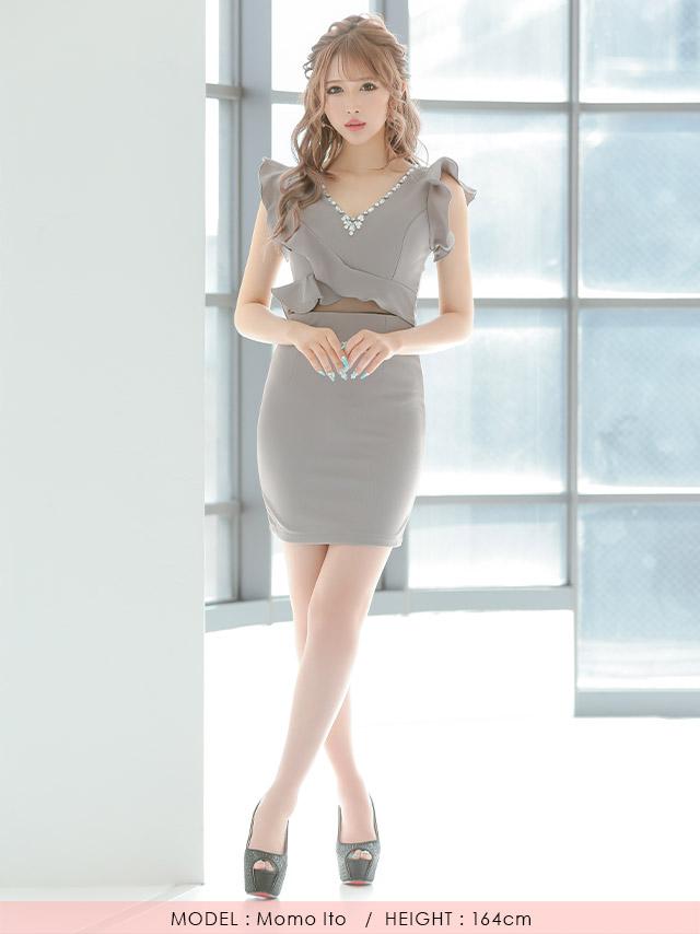 伊藤桃々ちゃん着るタイトミニドレス キャバドレス