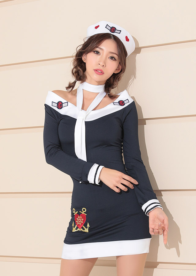 tika ティカ コスプレ 衣装 costume マリン 水兵 ボーダー  セクシー