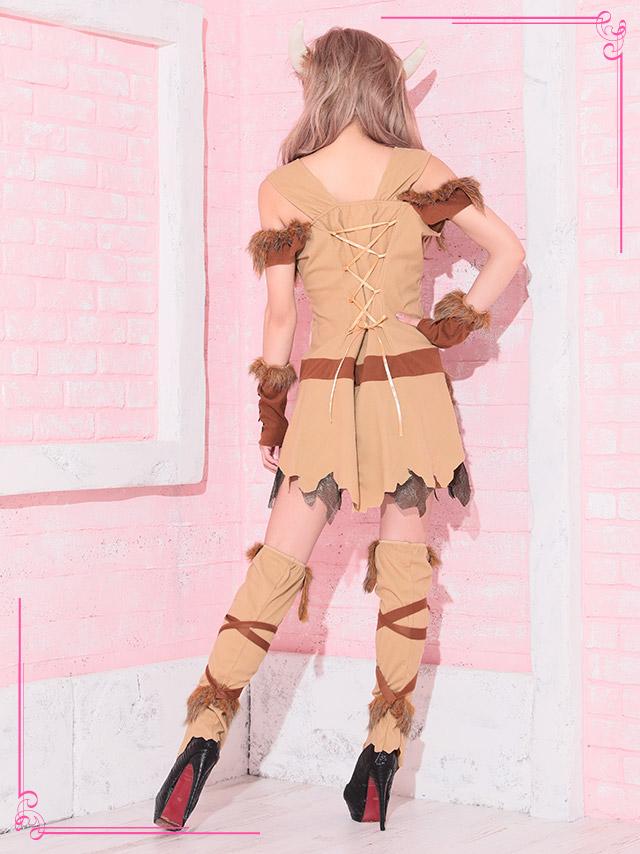 tika ティカ コスプレ 衣装 costume viking 原始人 レディース 可愛い