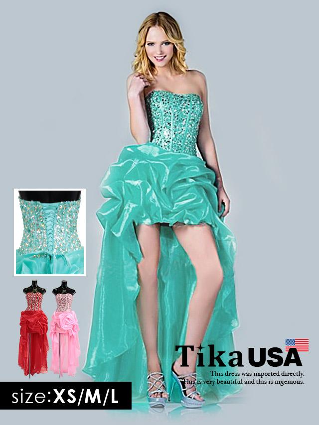 インポートドレス 可愛いキャバドレス 前ミニ キャバ嬢 キャバクラ