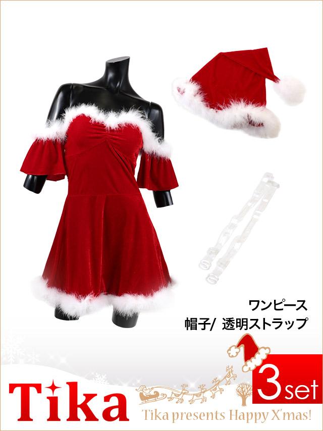 a41c803024656 ゆんころサンタ♪ 可愛らしさとセクシーさの両方を合わせたサンタミニドレス☆ 肌触りの良い生地で着心地も抜群です! クリスマスイベントにオススメです!