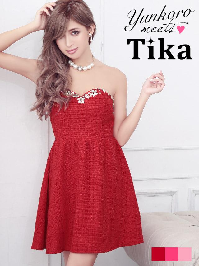 Tika ティカ 2set2wayベアサンタミニドレス コスチューム ミニドレス Xmas サンタクロース ドレス コスチューム ワンピース