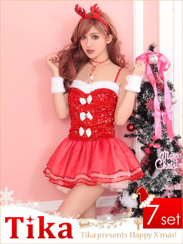 tika ティカ コスプレ 衣装 costume クリスマス 衣装 サンタ トナカイ 可愛い