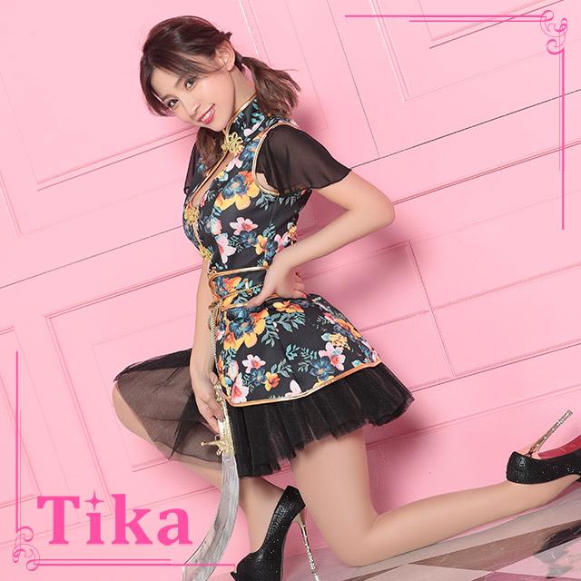 tika ティカ コスプレ 衣装 costume 花柄 チャイナドレス  セクシー