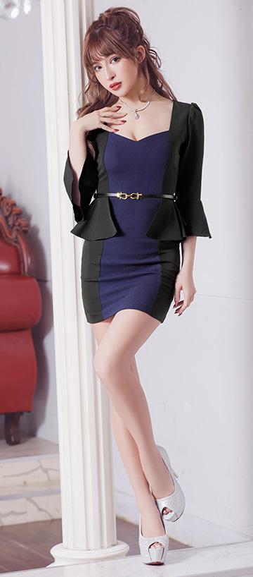 ペプラムドレス