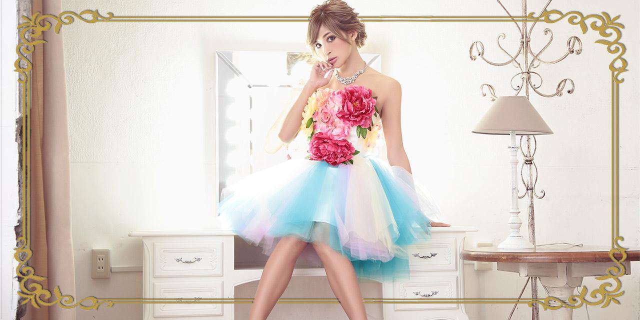キャバ嬢さんのブーケドレス