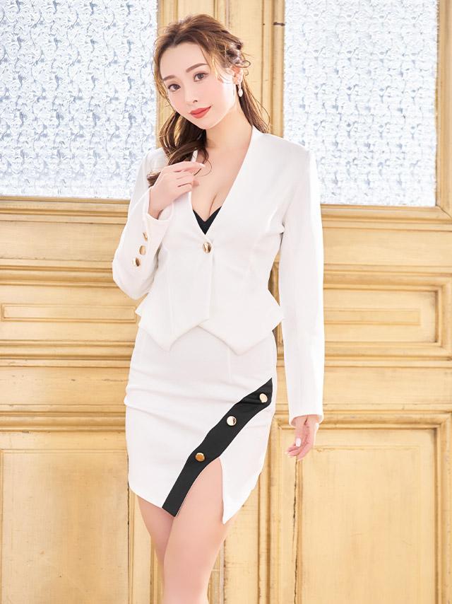 久保七瀬が着る新作セットアップスーツドレス